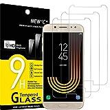 NEW'C 3 Unidades, Protector de Pantalla para Samsung Galaxy J5 2017, Antiarañazos, Antihuellas, Sin Burbujas, Dureza 9H, 0.33 mm Ultra Transparente, Vidrio Templado Ultra Resistente
