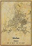 Pakistan Multan Map Wall Art Poster Leinwand Druck Vintage