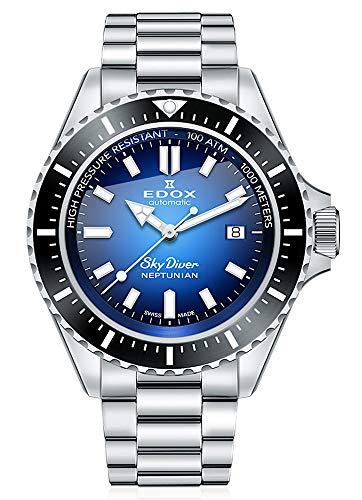 EDOX Skydiver Neptunian 80120 3NM BUIDN - Reloj de pulsera para hombre