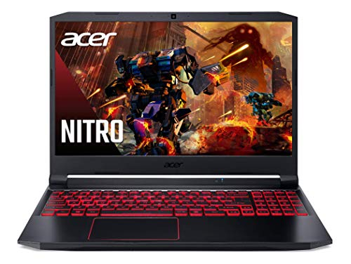 Acer Nitro 5 Gaming Laptop, 10th Gen Intel Core i5-10300H, NVIDIA GeForce GTX 1650 Ti, 15.6' Full HD IPS 144Hz Display, 8GB DDR4, 256GB NVMe SSD, WiFi 6, DTS X Ultra, Backlit Keyboard, AN515-55-59KS
