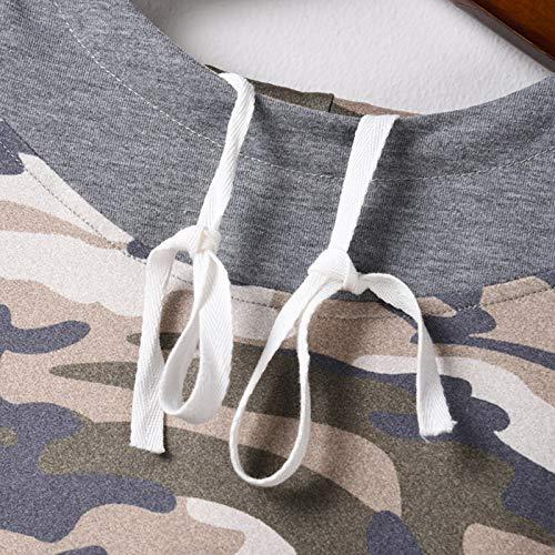 Pistaz Women's Casual Color Block Hoodies Long Sleeve Tops with Drawstring Sweatshirt with Pocket Camouflage Sweatshirt Color Block Shirts