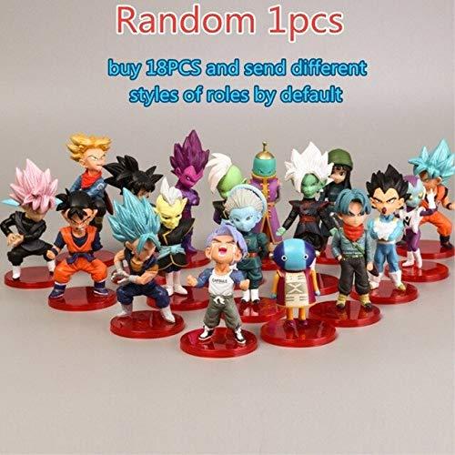 Yvonnezhang 6styles Dragon Ball Z Mini Modelo Goku Saiyan Majin Boo Dragon Ball Z Figura Niños Juguete Figura de Acción PVC Modelo Colección Anime, 6pcs