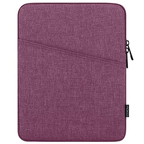 MoKo 9-11 Zoll Tablet Tasche, Polyesterfaser Sleeve Tasche Hülle mit Seitentasche Sleeve Hülle Kompatibel mit iPad Pro 11 2021/2020/iPad 9/8/7 Gen 10.2/iPad Air 4 10.9/Galaxy Tab A 10.1, Violett