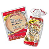 Pita Bundle: Joseph's Flax Oat Bran & Whole Wheat Reduced Carb Low Carb Pita Bread and Mini Pita Bread, Includes Low Carb Diet Recipe