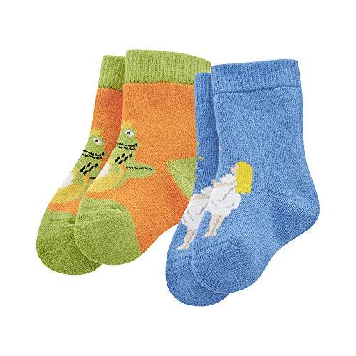 Living Crafts Socken, 2er Pack 15-16, pumpkin/cobalt
