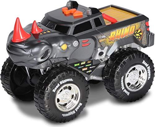 Nikko – Road Rippers Wheelie Monsters – Motorisiertes Spielzeug Auto mit Licht und Sound – Wheelie Monster Truck für Kinder – Rhinozeros