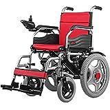 wheelchair Silla de ruedas eléctrica plegable inteligente, silla de ruedas portátil para personas mayores con movilidad reducida Regalo de silla de ruedas eléctrica plegable de cuatro ruedas
