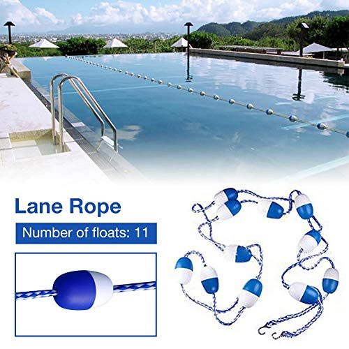 Ablerfly Swimming Pool Divider und Safety Rope Line Float Lines Blaues und weißes Trennseil mit blauen, weißen Kugeln für die Binnenwasserstraßen von Schwimmbädern gorgeously
