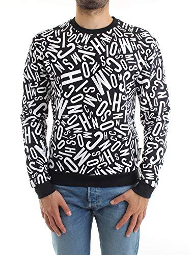 Moschino Sweatshirt Underwear Farbe Schwarz Multi Logo Lettering Unisex E20MO18, Mehrfarbig XXL