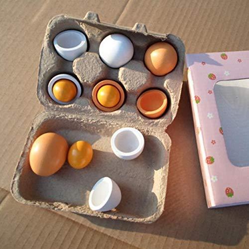 Cucina per bambini Giocattoli di legno da cucina Giocattoli bambini Finta Play Games Alimentari Uova Set prescolare Legno bambini tuorlo alimentari