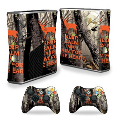 MightySkins Skin Compatible with X-Box 360 Xbox 360 S Console - Deer Hunter | Protective, Durable, and Unique Vinyl Decal wrap Cover | Easy to Apply, Remove, and Change Styles | Made in The USA