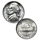 1 Jefferson WWII'War' Nickel from between 1942-1945 35% Silver Nickel Brilliant Uncirculated