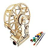 Electric Wooden Ferris Wheel Building Kit - DIY STEM Educational Toys for Girls and Boys - 3D Working Construction Scientific Model Kits - Engineering Assembly Project for Kids, Teens & Adults