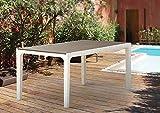 Keter–Mesa rectangular 160x 90cm (resina efecto madera–Capuchino/Blanco