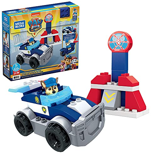 Mega Bloks PAW Patrol Chase's City Police Cruiser, Building Toys for Toddlers (31 Pieces)