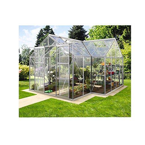 Alu-Gewächshaus Sirius ESG 3 mm Wintergarten 13 m² Orangerie inkl. Fundament