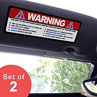 Best funny visor warning stickers Reviews