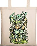 Frog Hunter Frogy Swamp Queen Hunter Bolsa de algodón ecológica Natural