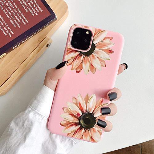 WGOUT Girasol Suave TPU Flor Cactus Funda para teléfono para iPhone 11 Pro XS MAX XR X 7 8 6 6S Plus SE 2020 12 Mini Funda, 10, para iPhone 7 8