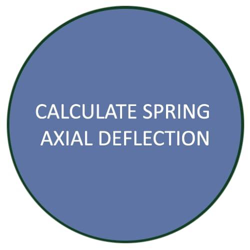 Calculate Spring Axial Deflection
