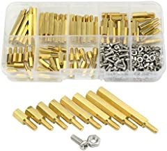 XLX 280pcs M2.5 Brass Male-Female Spacer Standoff Screw Nut Assortment Kit and stainless steel Screw Nut Set (Brass M2.5)