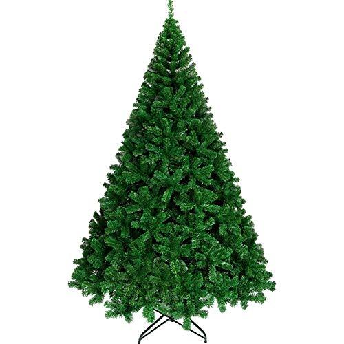Equipo para el hogar Árbol de Navidad Decoración navideña Árboles Ecológico Navidad Pino Decoración verde en fácil montaje Patas de metal sólido para decoración navideña-verde (Tamaño: 4 pies (120