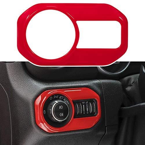 Luz delantera abs decoración cubierta Trim interior Accesorios faro interruptor botón Trim para Jeep Wrangler jl jlu Gladiator jt..
