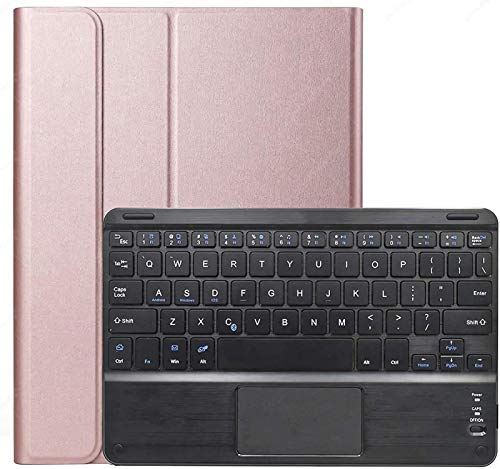 FANG Galaxy Tab S7 11 2020 Keyboard Case with Touchpad [SM-T870/T875/T876], Wireless Detachable Keyboard with Protective Cover for Samsung Galaxy Tab S7 11 Inch 2020,Rose gold
