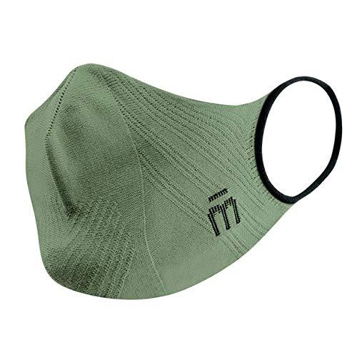 MICO P4PMASK Forest Green,Mascherina Sportiva Riutilizzabile Leggera, Mascherina Uomo e Donna ergonomica, Senza Cuciture, Mascherina Lavabile Asciugatura Rapida, Training Mask Sportiva, Taglia L