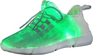 EliteShine Fiber Optic Light Up Flashing Shoes Fashion Party Sneaker