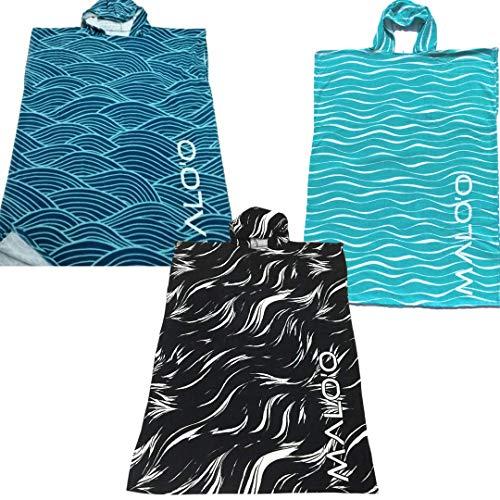 Malo'o Surf Poncho Swim Parka – super weiche 400 GSM Baumwolle – perfekt zum Umziehen nach dem Surfen, Schwimmen oder einem Tag am Strand (Blaugrün)