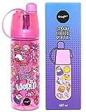 Fringoo - Aerosol para Niños no Tóxico y Botella de Agua Libre de BPA | Botella y Termo de Agua Escuela | Regalo Ideal para los Chicas - Normas de Chica