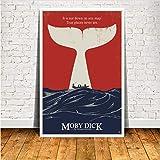 NVRENHUA Moby Dick Filmplakat und Drucke Wandkunst Leinwand