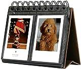 Álbum de Fotos Calendario para Fujifilm Instax - 68 Fotos Álbum de Fotografías de Cuero Sintético para Película de 3 Pulgadas para Mini 11 Mini 9 Mini 8+ Mini 8 Mini 90 Mini 70 (marrón)