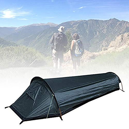 Bivy Tent Sleeping Bag, Ultralight Bivvy One Person Tent Compact Single Person Larger Space Waterproof Sleeping Cover Bivvy Sack for Outdoor Camping Hiking Traveling Climbing