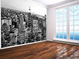 New York Black And White Wallpaper Wall Mural Empire State Cityscape - 2XL