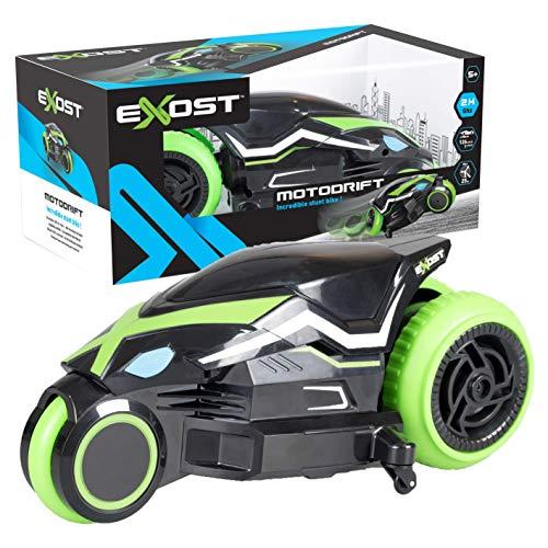 Exost Moto Télécommandée pour Enfants-Motodrift-2, 4GHz-Roues arrières conçues pour Drifter, 20249, NC