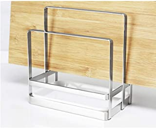 304 Solid Stainless Steel Kitchen Cutting Board and Lid Rack Organizer Rack