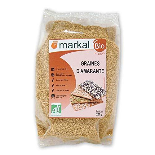 Graines d Amarante Bio - sans gluten - Amaranthe consommée par les Aztèques   250g   Markal