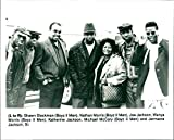 Shawn Stockman, Nathan Morris, Joe Jackson, Wanya Morris, Katherine Jackson, Michael McCary and Jermaine Jackson, Sr. - Vintage Press Photo