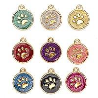 9個 迷子札 ペットタグ ドッグタグ 犬用名札 愛犬用 迷子札 金属製 コンパクト 小型 軽量