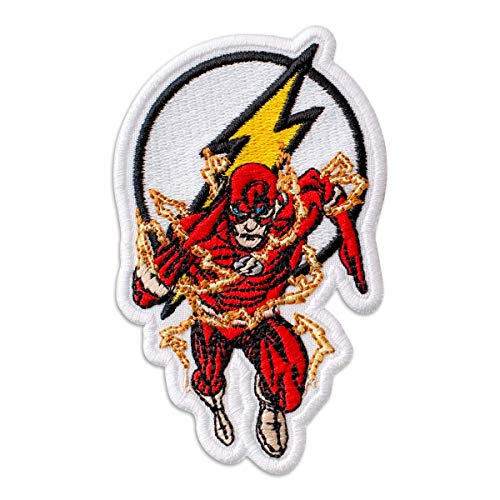 The Flash Superhero DC Comics Embroidered Patch Iron On (2.4' x 3.9')