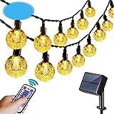 50LED bola de burbuja cadena de luz de control remoto solar cadena luces Waterpoof luces solares al aire libre jardín cadena decoración