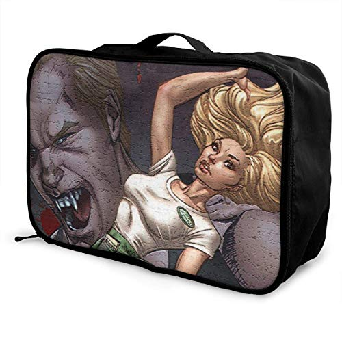 True Blood Travel Lage Bolsa de viaje para mujeres y hombres, impermeable, gran capacidad de bapa ligera, bolsas portátiles