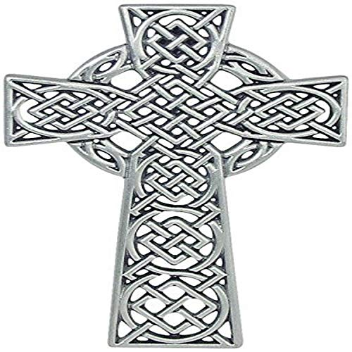 Cathedral Art (Abbey & CA Gift Celtic Knot Wall Cross, 4-1/2-Inch, Silver