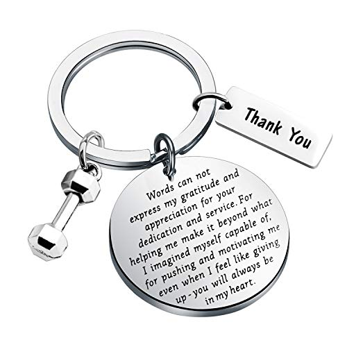 BLEOUK Fitness Instructor Gift Personal Trainer Gift Instructor Thank You Gift Fitness Trainer Gift Fitness Coach Appreciation Jewelry Gift