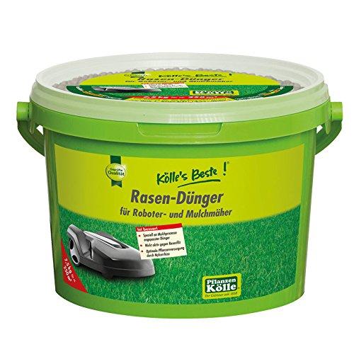 Kölle\'s Beste! Rasendünger für Mähroboter und Mulchmäher, für einen prächtig grünen und dichten Rasen, praktisches Granulat, für alle Rasensorten geeignet, zur Düngung vom Frühjahr bis Herbst, 7,5 kg
