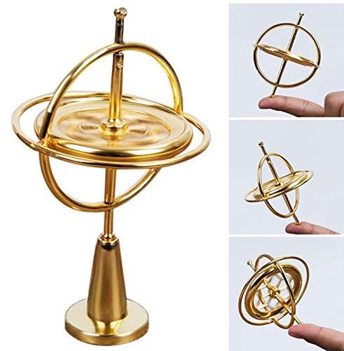 Gwill Anti-Schwerkraft Spinner Balance Spielzeug, Präzision Gyroskop Metall Finger Spinner Pädagogisches Geschenk Physik Training Gyro für Kinder