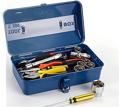 XJYXH Caja de herramientas de herramientas portátil Caja de herramientas Maleta profesional Organizador vacío Hierro Hierro Gran Metal Almacenamiento Múltiple Multiumply Carry-On Reparación portátil C