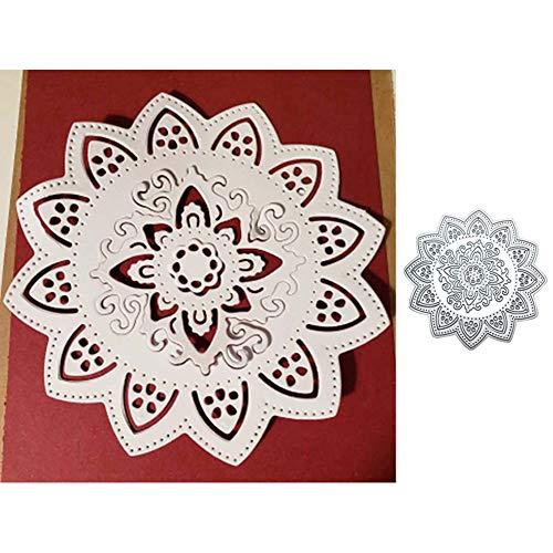 Lovejoy Store Metallstanze, Blumen-Dekoration, Stanzformen DIY Scrapbook Papier Karte Album Craft Prägung Schablone Form für Karten Handwerk Dekoration, Silber